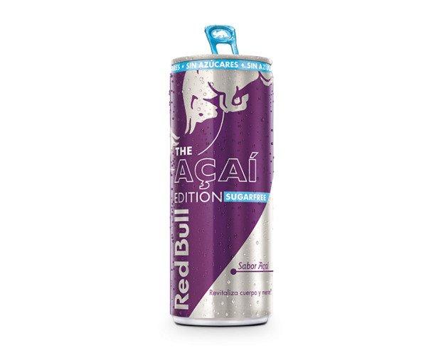 Red Bull açaí. Red Bull Energy Drink con el sabor de Açaí ¡Sin azúcares!