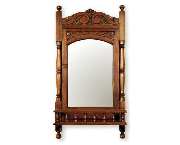 Espejo colonial. Espejo con estante
