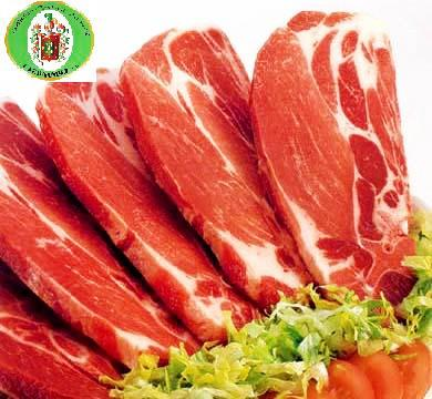 Carne de cerdo. Carne de cerdo, de pollo, de conejo, embutidos