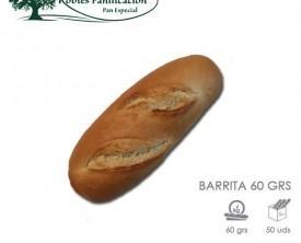 Barrita 60g. Barrita de 60 gramos, ideal hostelería