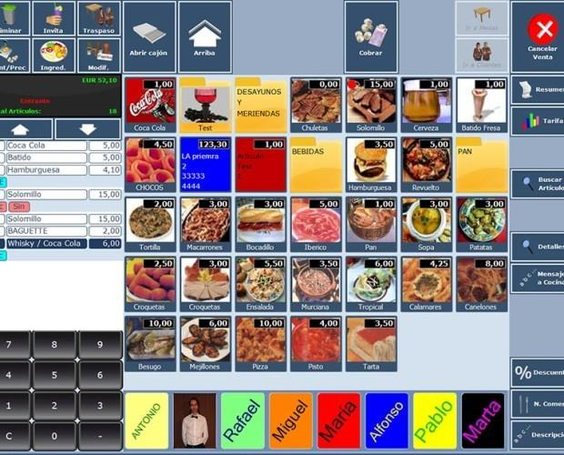 Software DSTNET. Software Hosteleria DSTNET par restaurantes, cafeterías, fastfood, discotecas, pizzerías, etc.