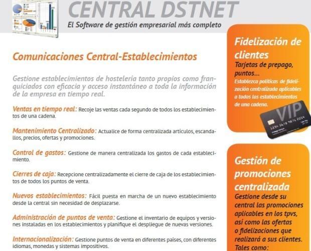 Central DSTNET. Gestion centralizada de nuestro software DSTNET. Controle todos sus establecimientos desde un solo sitio.