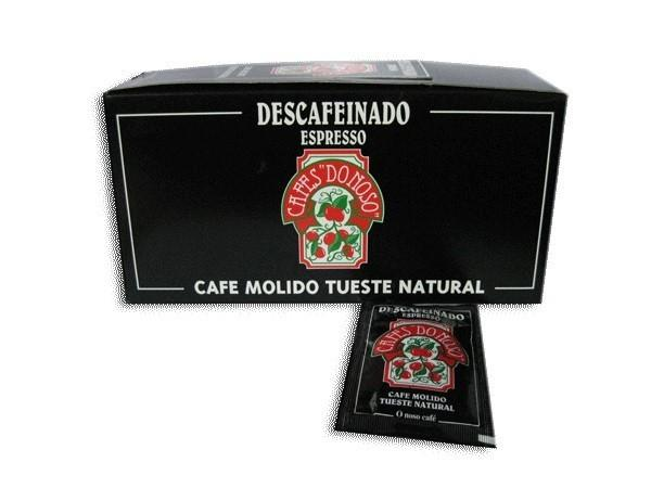 Espresso descafeinado. Espresso descafeinado sobres individuales