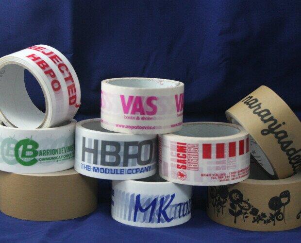 Cinta adhesiva PERSONALIZADA. Cinta adhesiva personalizada, PP, PVC, KRAFT, KRAFT BLANCO