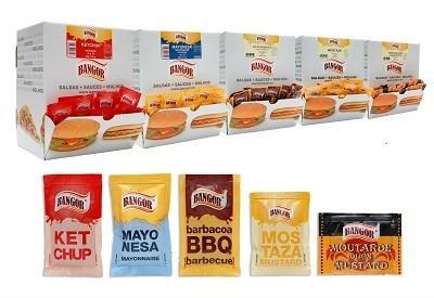 Salsas. Mayonesa. Kétchup, Mayonesa, Mostaza, Barbacoa, etc.