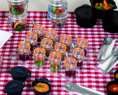 Desechables. Miniaturas desechables para catering y restauración