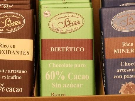 Chocolate. Sin azúcar