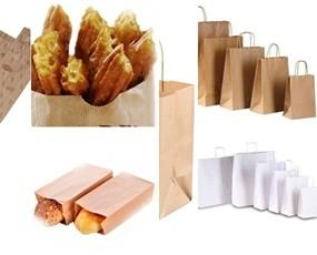 Envases Desechables.Bolsas de papel para hosteleria