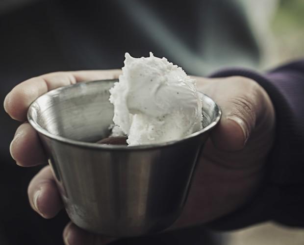 Helado Artesanal.Delicado helado de vainilla Sabuma