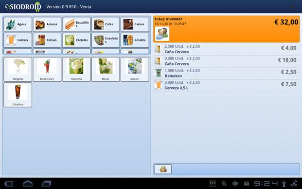 Software para TPV. Software para TPV Android