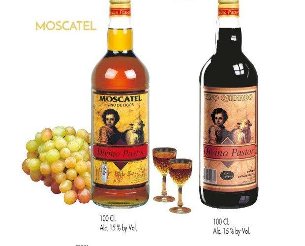 Moscatel y vino quinado. Bebidas de la mejor calidad