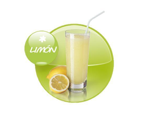 Granizados.Granizado con zumo de limón 100% natural sin conservantes