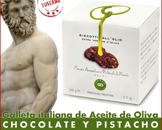 Deseo galleta con aove chocolate. Galletas italianas dulces y saladas, cantuccinis y de mantequilla