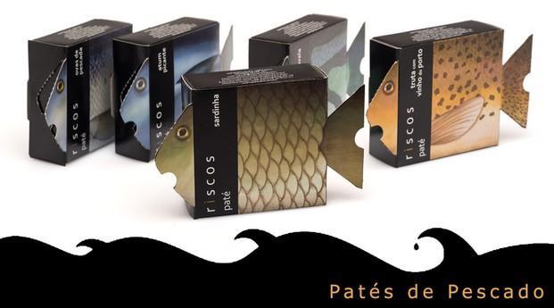 Patés de pescado. Paté de sardina, caballa, atún picante, trucha al vino Oporto, huevas de merluza