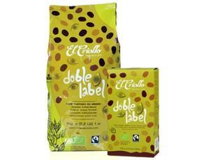 Café Molido.Fairtrade y de cultivo orgánico. 1kg grano y 250g