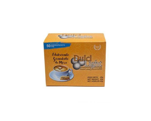 Dulcilight Sucralosa 50 Sobres. En sobres con el sabor natural del azúcar