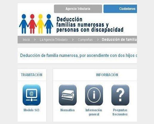 Deducción. Familias Numerosas y Personas