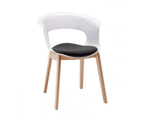 Silla Natural Miss B Cushion. on patas de haya natural de alta calidad y cuerpo en policarbonato anti-rozaduras