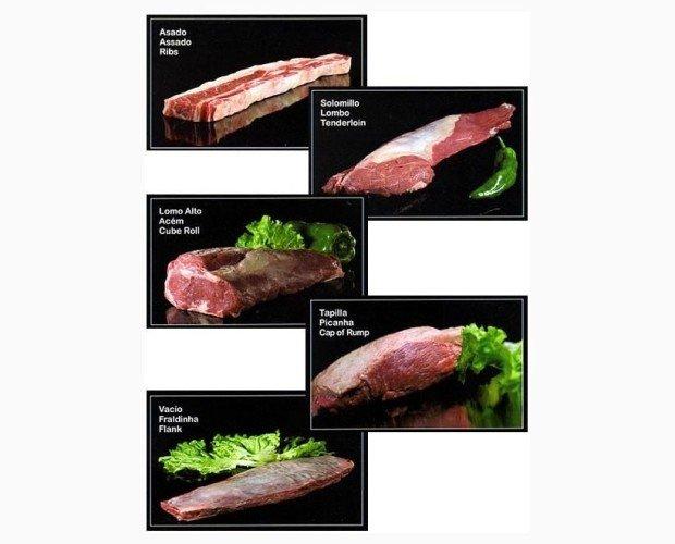 Carne Argentina. Cortes argentinos, chorizos y morcillas