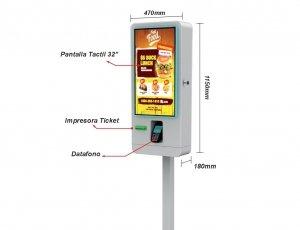 Kiosco de Autoservicio sin gestion de efectivo