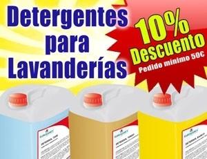 10% de descuento en Detergentes para lavanderías