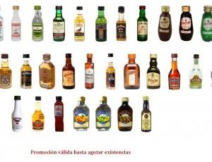 Liquidación minibotellas licores dto. 40%