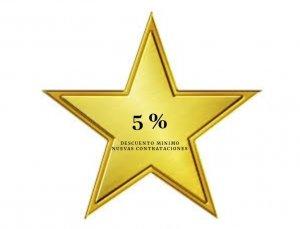 5% de descuento en nuevas contrataciones