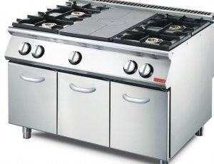 Cocina a gas Gastro M 4 quemadores y placa GM70/120TPPCG2
