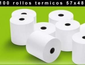 50% de descuento comprando 100 Rollos Papel Térmicos 57x48