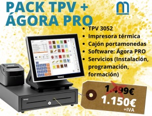 PACK TPV+ÁGORA PRO ANTES 1.499 AHORA 1.150