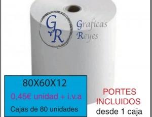 Rollos térmicos 80X60 con envío gratis
