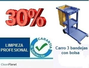 30% de descuento comprando carro 3 bandejas con bolsa